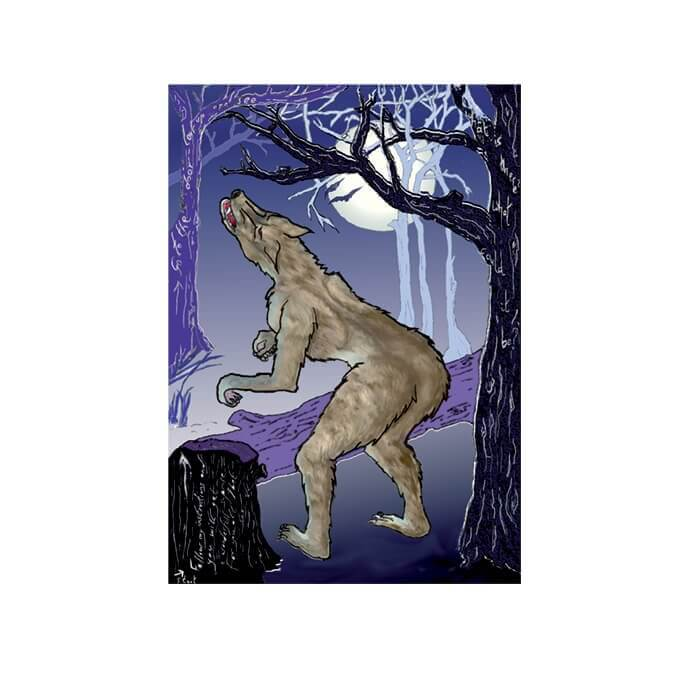 werewolf Pin the tail