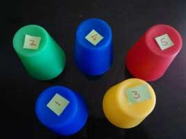 Pass the Parcel hidden treat cups
