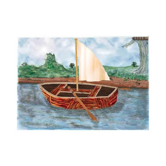Pin the sail - with sail
