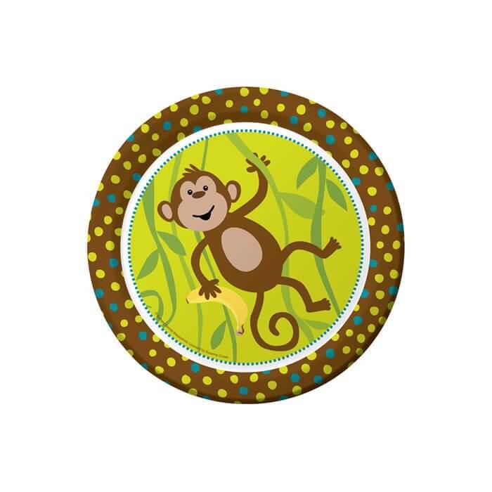 cheeky monkey dinner plates