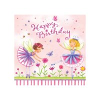 garden fairy party napkins