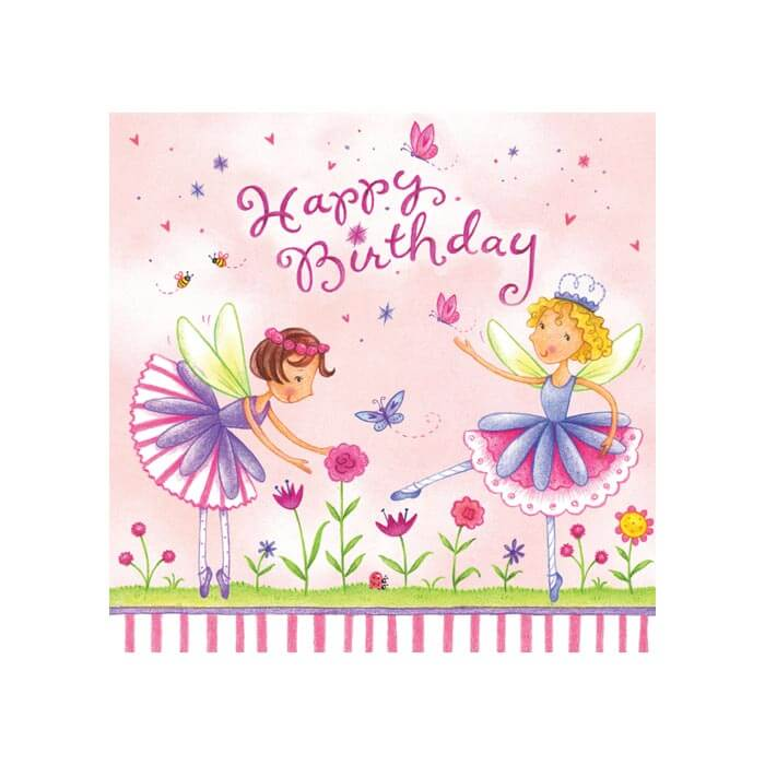 garden fairy party napkins
