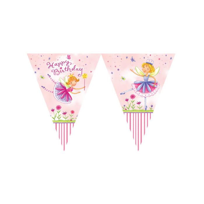 garden fairy party banner