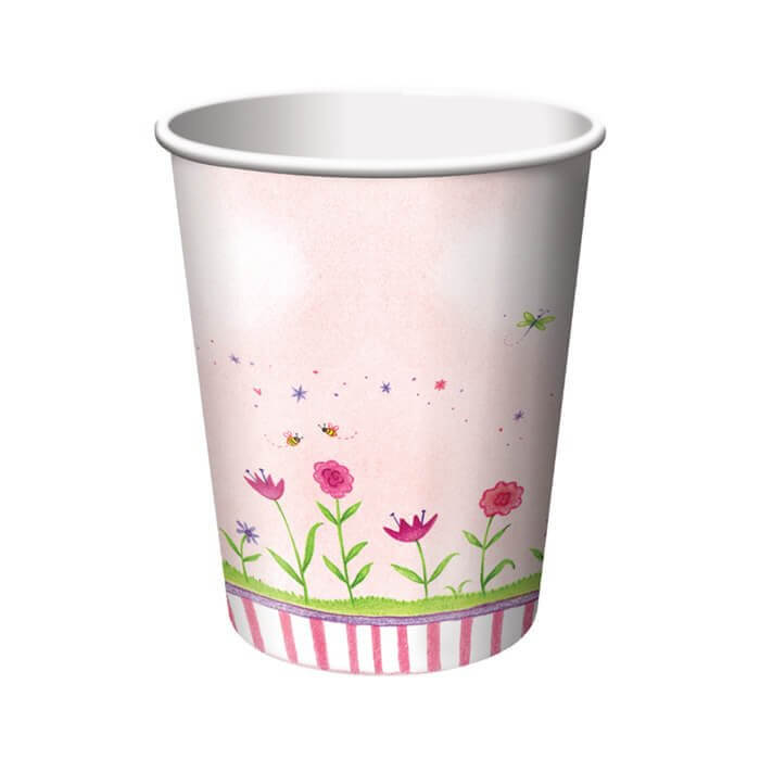 garden fairy party cups