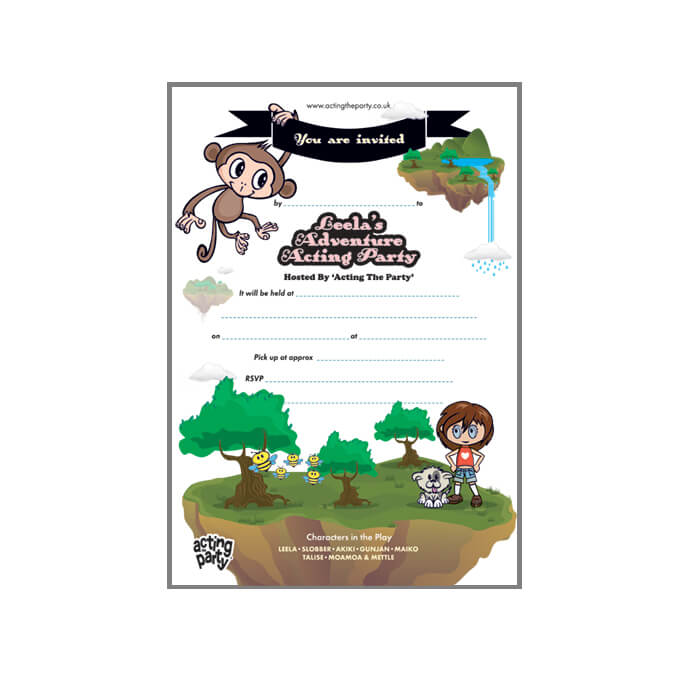 jungle party invitation image usb