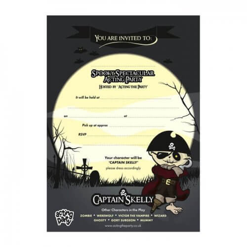 Pirate Party Invitation for refill pack