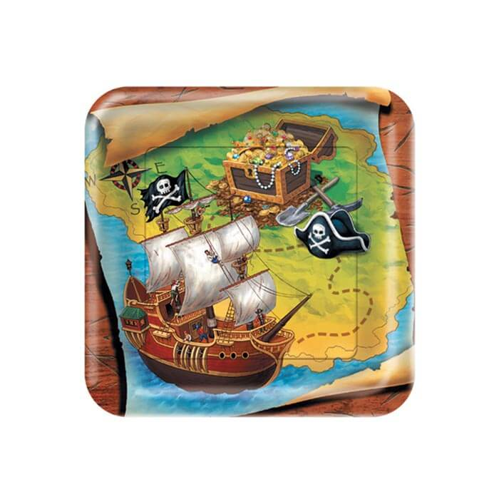 Pirate party dinner plates
