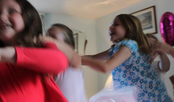 girls playing the conga