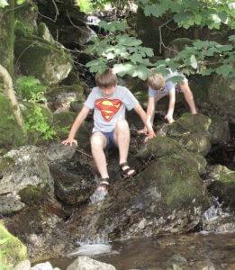 Boys enjoying outdoor play