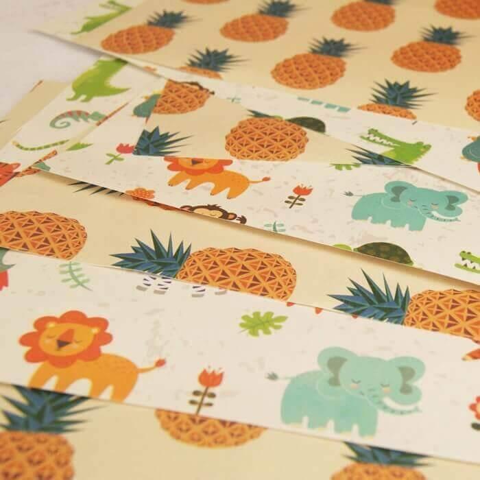 jungle pass the parcel paper