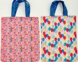 Handmade birthday party bags