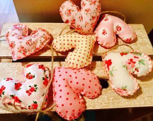 hearts on string bunting